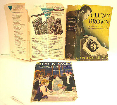 Vintage Lot of 2 Partial Dust Jackets Only 1944 Cluny Brown & 1923 Black Oxen