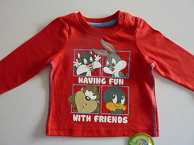 LOONEY TUNES Having Fun with Friends Long Sleeve Top NWT