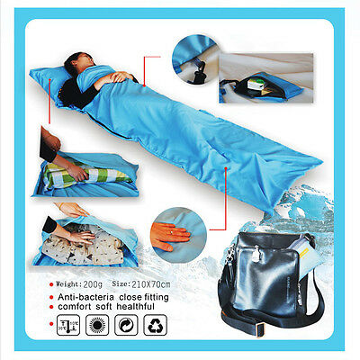 Portable Single Liner Sleeping Bag Inner Travel Hostel Sheet Sack Camping Bags