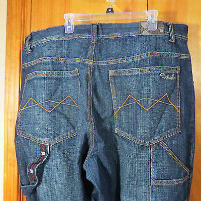 MENS DENIM  JEANS SIZE 46 BY MAKAVELI WITH A 33 INCH INSEAM