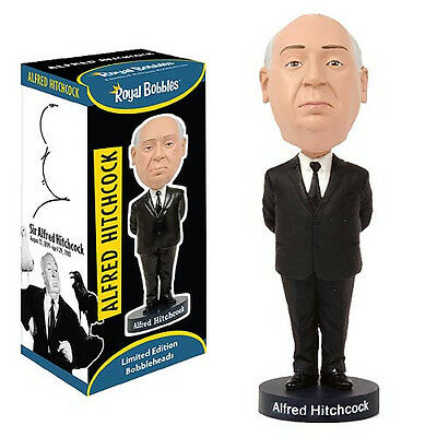 "Alfred Hitchcock Ceramic Bobble Head Royal Bobbles Officially Licensed 8"" Tall"