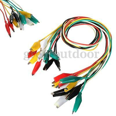 "10x 20""  Crocodile Alligator Double-ended Clip Test Jumper Probe Lead Wire Cable"