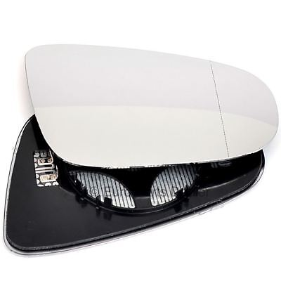 Right Driver Side WIDE ANGLE HEATED WING MIRROR GLASS VW Golf MK6 09-12 Clip On