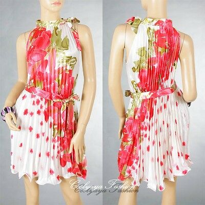 Hot Lady Evening&Cocktail Party Bridemaids Vintage Ruffle Flower Print Dress 211