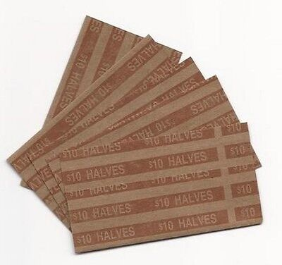 (20)  Fifty Cent - Half Dollar Pop-Open Flat Paper Coin Wrappers