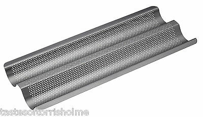Masterclass 39cm 15 Inch Crusty Bake Perforated Non Stick Baguette Baking Tray