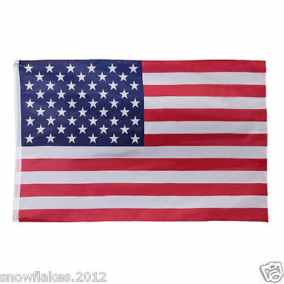 3x5ft usa pole pocket sleeve polyester Stars strips us american flag in/out door