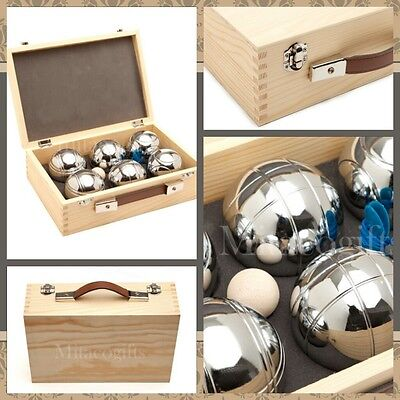 New 6 Ball Bocce /  Boule /  Petanque Ball Set with Carry Box