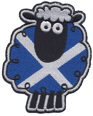 Scotland Highland Sheep Flag Embroidered Patch Badge