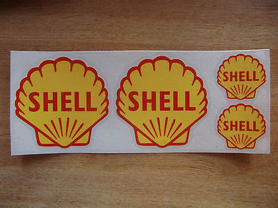 Vintage classic style Shell logo sticker  kit - car / motorcycle decals