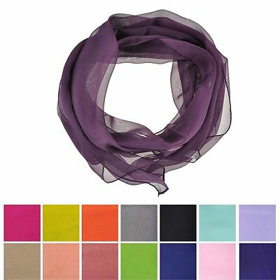 Women Plain Chiffon Scarf, Light weight Plain Soft Fabric Shawl, Wrap, Hijab