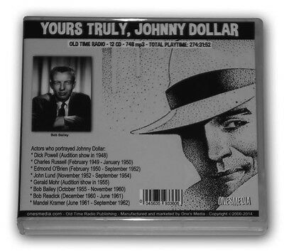 YOURS TRULY, JOHNNY DOLLAR-OLD TIME RADIO-12 CD-748 mp3Total Playtime: 274:31:52