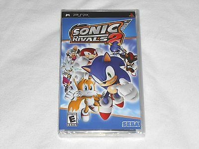 NEW Sonic Rivals 2 Sony PSP Game US NTSC VERSION Brand New Sealed hedgehog rival