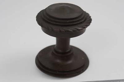 Large reclaimed Victorian  solid brass door knob, entrance knob - clean