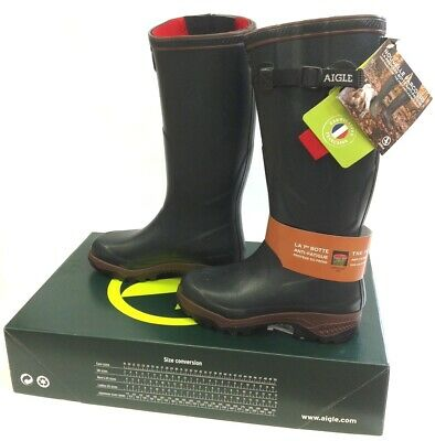 Aigle Parcours Iso 2 - Bronze - Neoprene Lined Wellington Welly Boots Wellies
