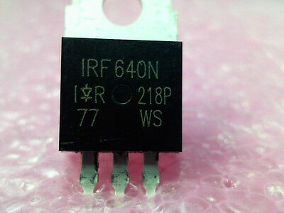 """5x IRF640 """"IR"""" Power MOSFET N-Channel 18A 200V - USA SELLER - Free Shipping"""