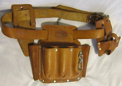 BASHLIN III-QLCS Leather Tool Pouch Belt with Accessories CLC Popular Mechanics