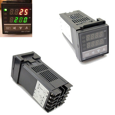 Dual PID F/C Digital Temperature Control Controller Thermocouple 400°C REX-C100