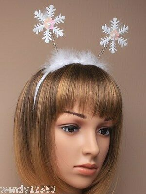Pack Of 12 Snowflake Deeley Boppers On Alice Bands: Sp-5045 Pk12