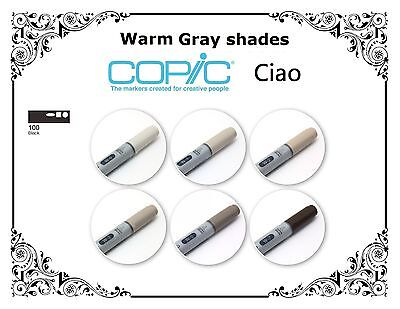 COPIC CIAO MARKER - SINGLES - Warm Shades And Black