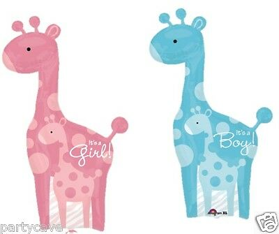 Baby Shower Party Boy Girl Giraffe Supershape Helium Foil Balloon Decoration