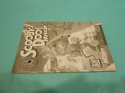 +++ SCOOBY DOO MYSTERY Super Nintendo SNES Game MANUAL BOOKLET ONLY +++
