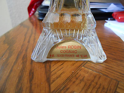 JULES ROBIN COGNAC MINIATURE EIFFEL TOWER BOTTLE WITH TAG - COLLECTOR'S ITEM