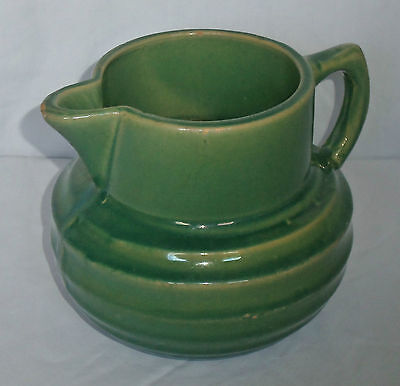 1920's Vtg Green McCoy Pottery Buttermilk Water Juice Drink Pitcher Shield 121