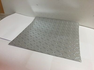 HEAVY-DUTY Plastic Diamond Plate Sheeting, self-adhesive, 8  x 12 inch, 2 sheets