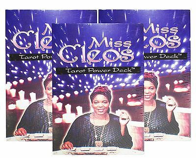 Miss Cleo's Egyptian Tarot Cards Fortune Telling Power Deck Lot of 3 New Decks