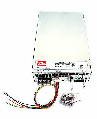 1pc Switching Power Supply SE-1500-48 48V 31.3A 1500W AC180~264V UL Mean Well MW
