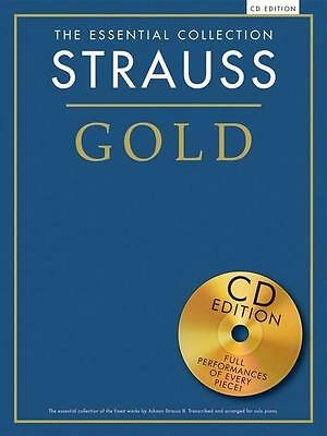 Strauss Gold Essential Collection Piano Book/cd Portofrei