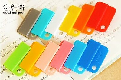 6 x Reusable Multi Candy Colour Easy Clip Index Divider Card Guide Sweet Fun UK