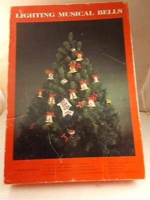 Vintage Caroling Musical Bells Plays 12 Christmas Songs & Light In Time To Music