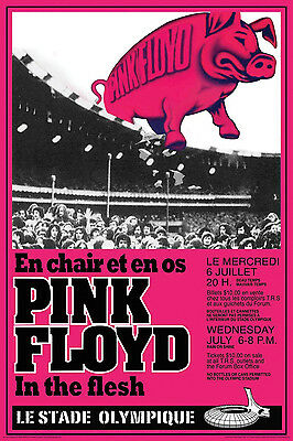"Pink Floyd - Montreal 1976 Concert Poster - 6.75""x10"" Photograph"