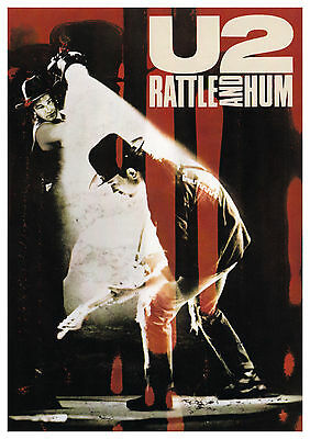 U2 - Rattle & Hum Movie Poster, 7x10 Color Photo