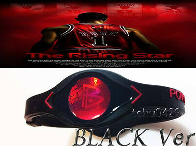 HOT Power Wristband Balance Energy Bracelet MVP D-Rose Basketball Black/White
