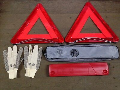 2x Genuine Hella Warning Triangles Made Exclusively for MG Rover Part SAC880662