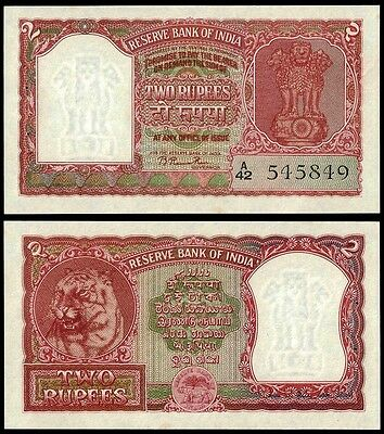 India 2 RUPEES Sign 72 Error Hindi ND P 27 UNC