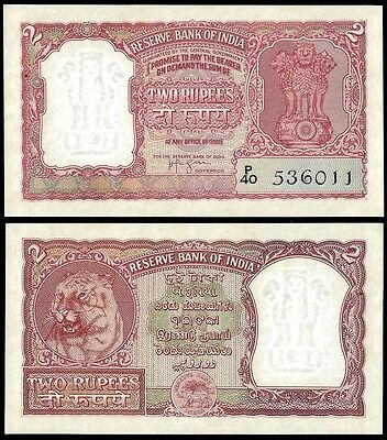 India 2 RUPEES Sign 74 ND ND P 29b UNC