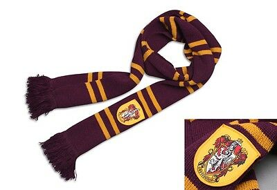 Harry Potter Gryffindor House Thicken Wool Knit Striped Scarf Wrap Cosplay Prop