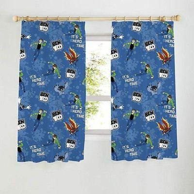 728be99e3c20 Ben 10 Universe - Its Hero Time Childrens Bedroom Curtains - 66 x 54 Inch  Drop