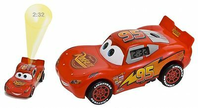 Disney Cars 2 Lightning Mcqueen Projection Alarm Clock - Free 1st Class Delivery