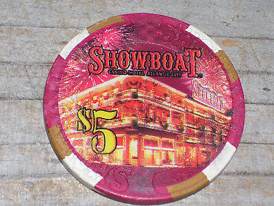 $5 Gaming Chip From The Showboat Casino In Atlantic City