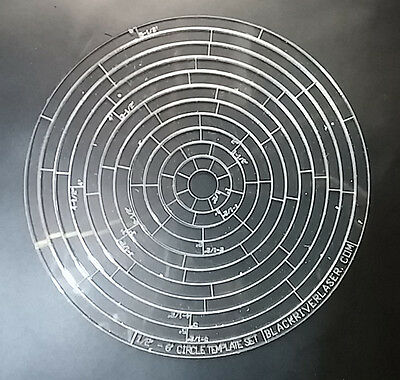 """1/2"""" - 6"""" Circle Templates - Precision Laser Cut - For Leather Crafters - Cts"""