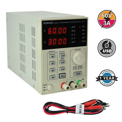 KORAD KA6003P - Programmable Precision Variable Adjustable 60V, 3A  DC Linear Po