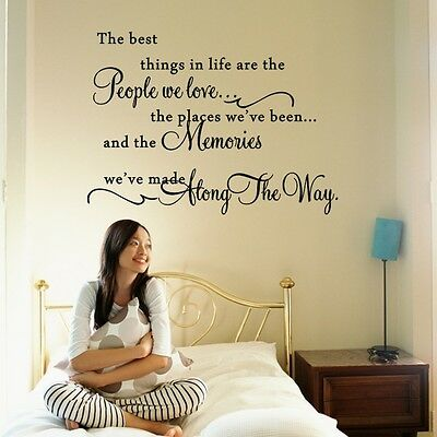 The Best Things In Life Wall Quote Home Decor Sticker Vinyl Art Letter Decal