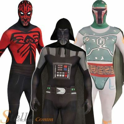 Adult Mens Star Wars 2nd Skin Bodysuit Halloween Fancy Dress Costume Outfit