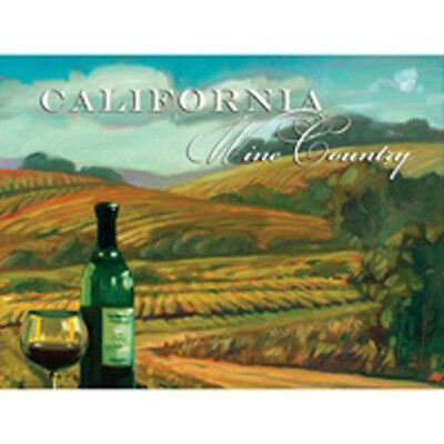 Wine Country California Vineyard Metal Sign Napa Valley Vintage Bar Decor 16x12