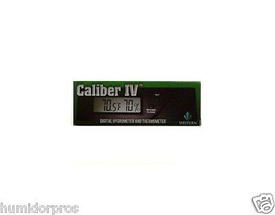 Caliber IV Digital Electronic Cigar Hygrometer Calibrate Western Humidor NEW
